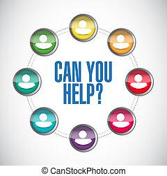 aide, gens, illustration, diagramme, boîte, vous
