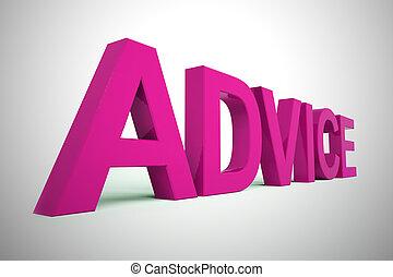 aide, icône, -, conseil, concept, direction, 3d, illustration, ruses, projection, pointes