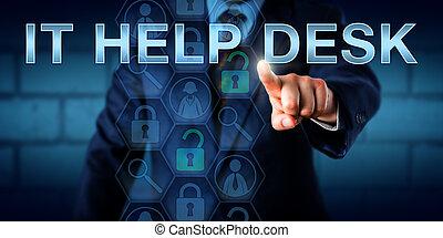 aide, il, utilisateur, toucher, constitué, bureau