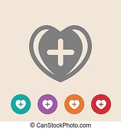 aide, monde médical, premier, signe