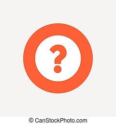 aide, question, symbole., marque, icon., signe