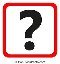 aide, question, symbole., signe, vecteur, icon., marque, illustration.