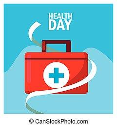 aide, santé, kit, premier jour, monde médical