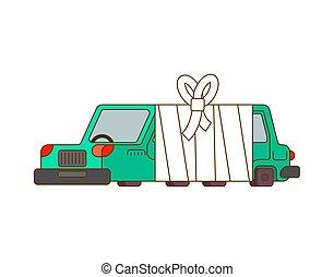 aide, service, bandages., auto, bandage., malade, automobile, voiture