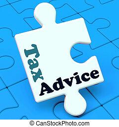 aide, taxation, conseil, irs, impôt, puzzle, spectacles