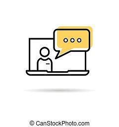 aide technique, icône ordinateur