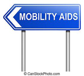 aides, concept., mobilité