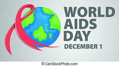 aids, affisch, design, dag, värld
