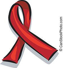 AIDS Awareness Ribbon - Illustration of a Ribbon Promoting...