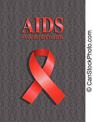 AIDS Awareness - Vector illustration of a pink ribbon on ...