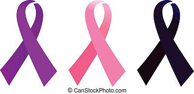 AIDS Awarness ribbon set isolated on white
