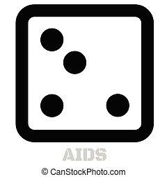 Aids conceptual graphic icon