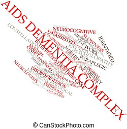 AIDS dementia complex - Abstract word cloud for AIDS...