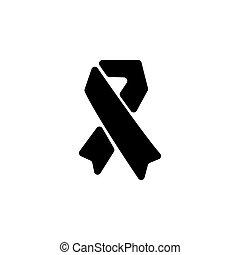 AIDS icon. vector illustration symbol (sign)
