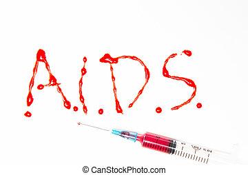 aids, spelled, uit, in, bloed, met, syri