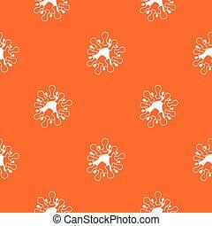 AIDS virus pattern seamless
