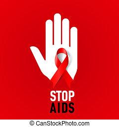 aids, zeichen., halt
