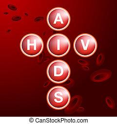 aids, zellen, blut, hiv