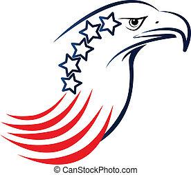 aigle, américain, logo