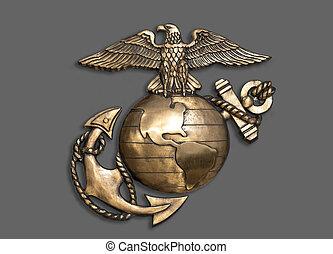 aigle, anchor., marin