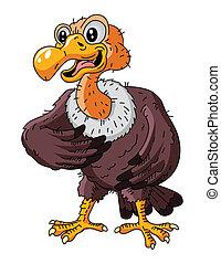 aigle, chauve, dessin animé