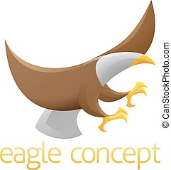 aigle, concept, conception