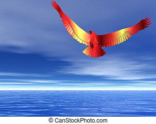 aigle, flamboyant