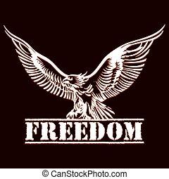 aigle, liberté
