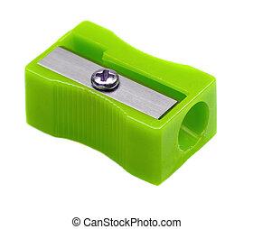 aiguisoir, vert, crayon