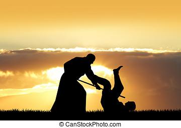 aikido, Coucher soleil