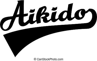 aikido, woord, retro