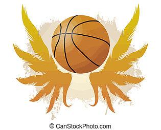 ailé, boule basket-ball
