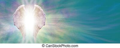 ailes ange, guérison, lumière