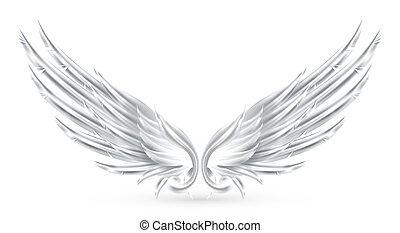 ailes, blanc, eps10