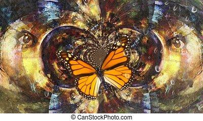 ailes, papillon, sous
