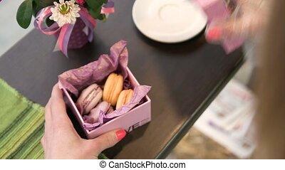 aimé, biscuits, fait main, cadeau, une