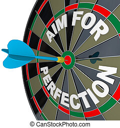 Aim for Perfection - Dart Hits Target Bulls-Eye on Dartboard