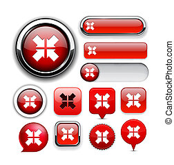 Aim high-detailed web button collection.