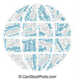 Aim High text background word cloud concept