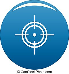 Aim icon blue vector