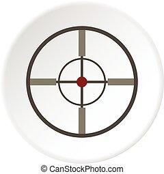 Aim icon circle