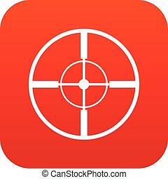 Aim icon digital red