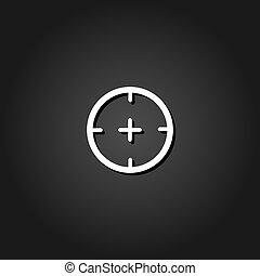Aim icon flat.
