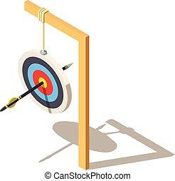 Aim icon, isometric style