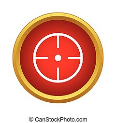 Aim icon, simple style