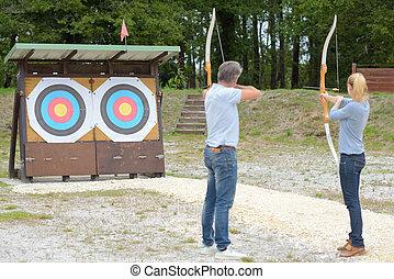 aim on the target