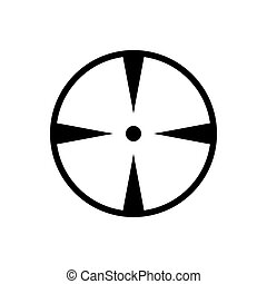 Aim outline icon isolated. Symbol, logo illustration for mobile concept, web design and games.