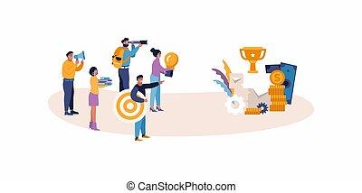 aim., papers., teamwork, roles., zwycięstwo, biały, pojęcie,...