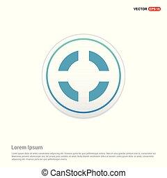 Aim target icon - white circle button