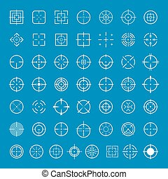 Aim target icons set, simple style